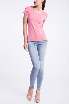 Однотонная розовая футболка CONVER