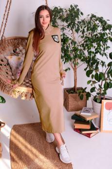 Платье с капюшоном и рукавами митенками ElenaTex