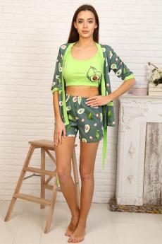 Пеньюар с шортами (принт авокадо) Натали