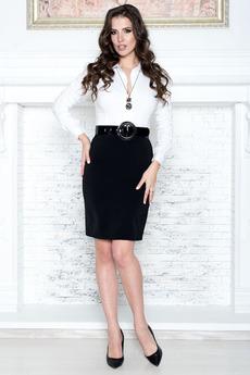 Черная юбка карандаш Angela Ricci