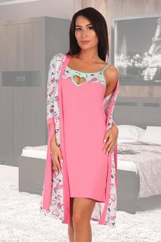 Новинка: комплект: халат и сорочка Натали