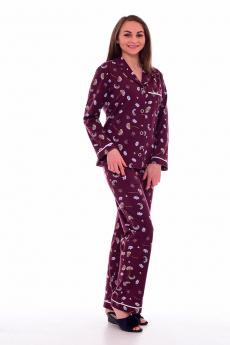 Бордовая пижама Новое кимоно